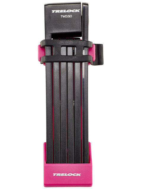Trelock FS 200 TWO.GO L Faltschloss 100 cm pink